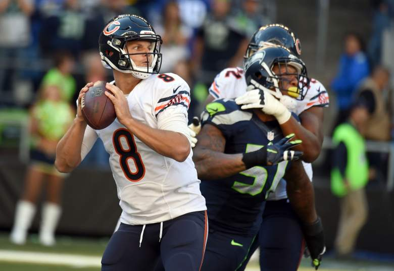 Jimmy Clausen struggled mightily against the Seahawks, throwing for 63 yards.