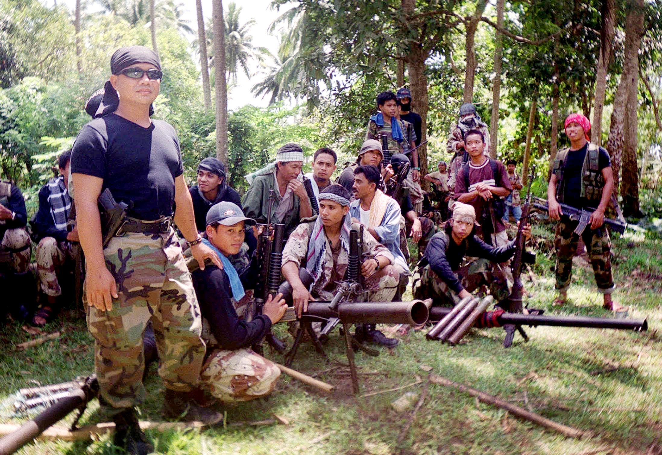 Abu Sayyaf militants in a file photo. (Getty)