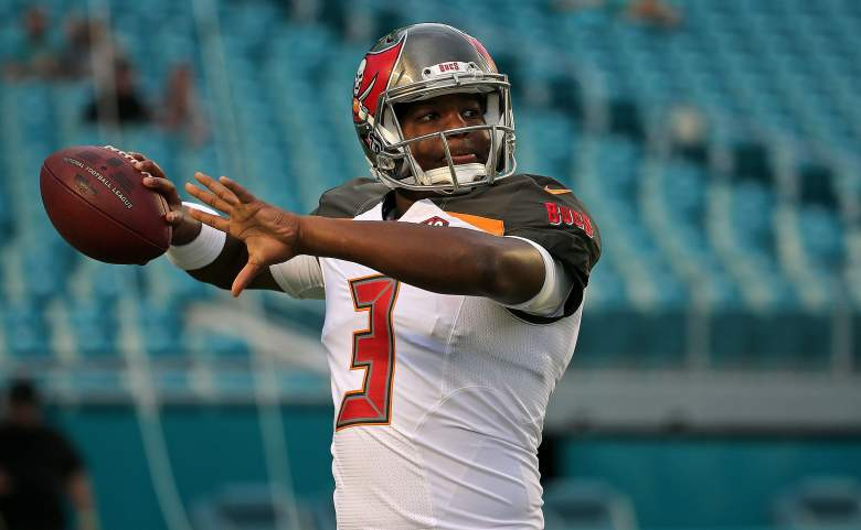 Jameis Winston is now the starting quarterback for the Tampa Bay Buccaneers, but his family has been with him from his humble beginnings in Hueytown, Alabama. (Getty)