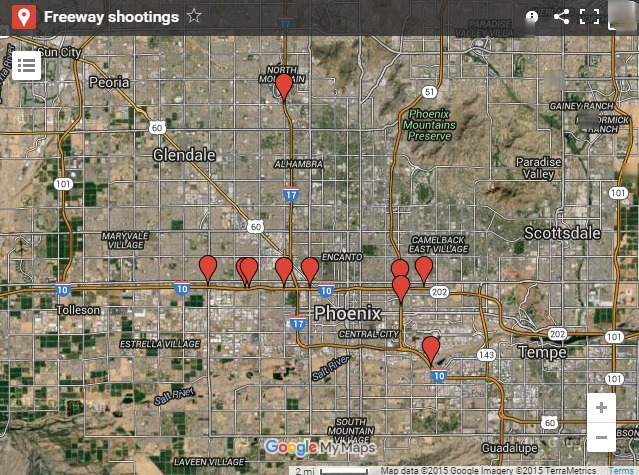 map of arizona shooting