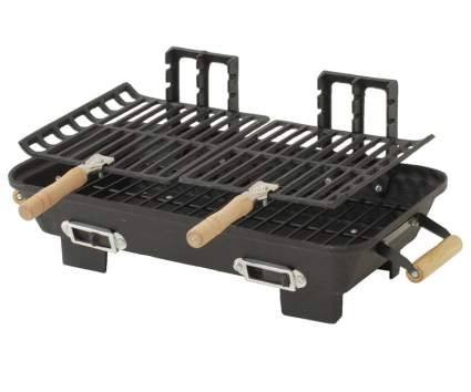 Marsh Allen 30052AMZ Kay Home Product's Cast Iron Hibachi Charcoal Grill, 10 by 18-Inch, hibachi grill