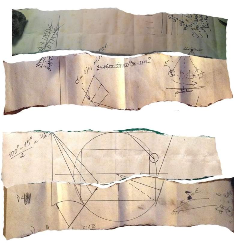 mysterious runes on parchment