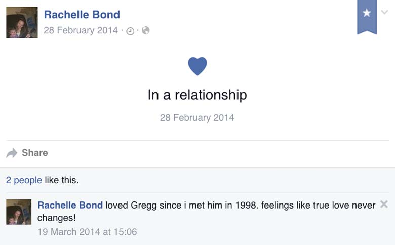 Rachelle Bond Boyfriend Gregg