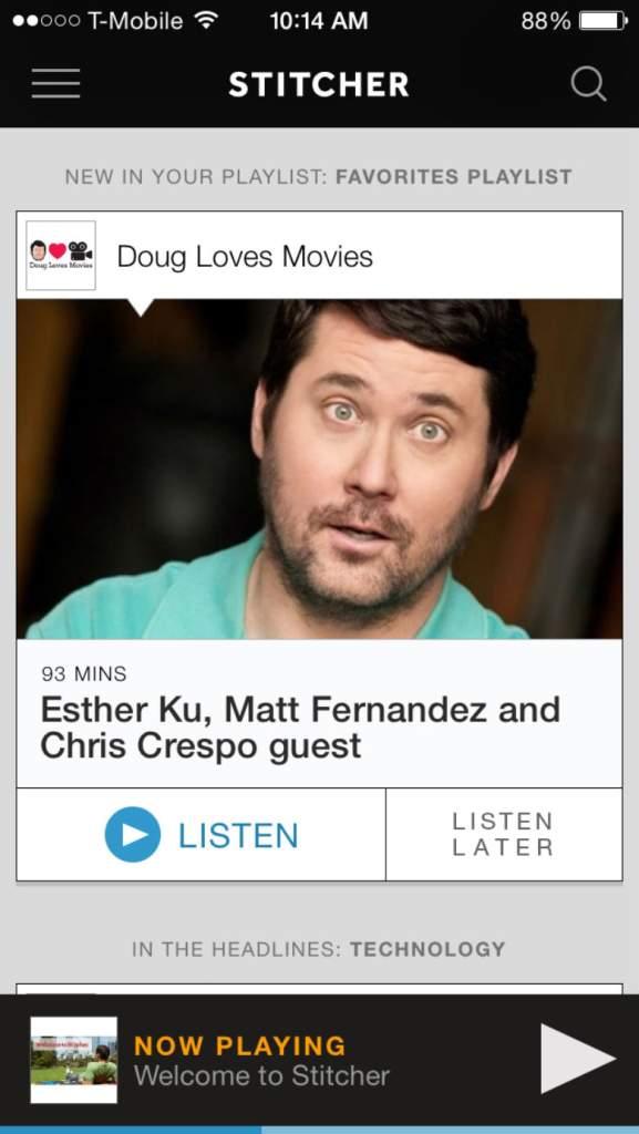 podcast apps, audio apps, nerdist, ear wolf