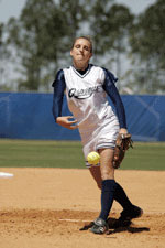 Tori Ahern was a star pitcher for North Florida before marrying Daniel Murphy. (http://www.unfospreys.com/)
