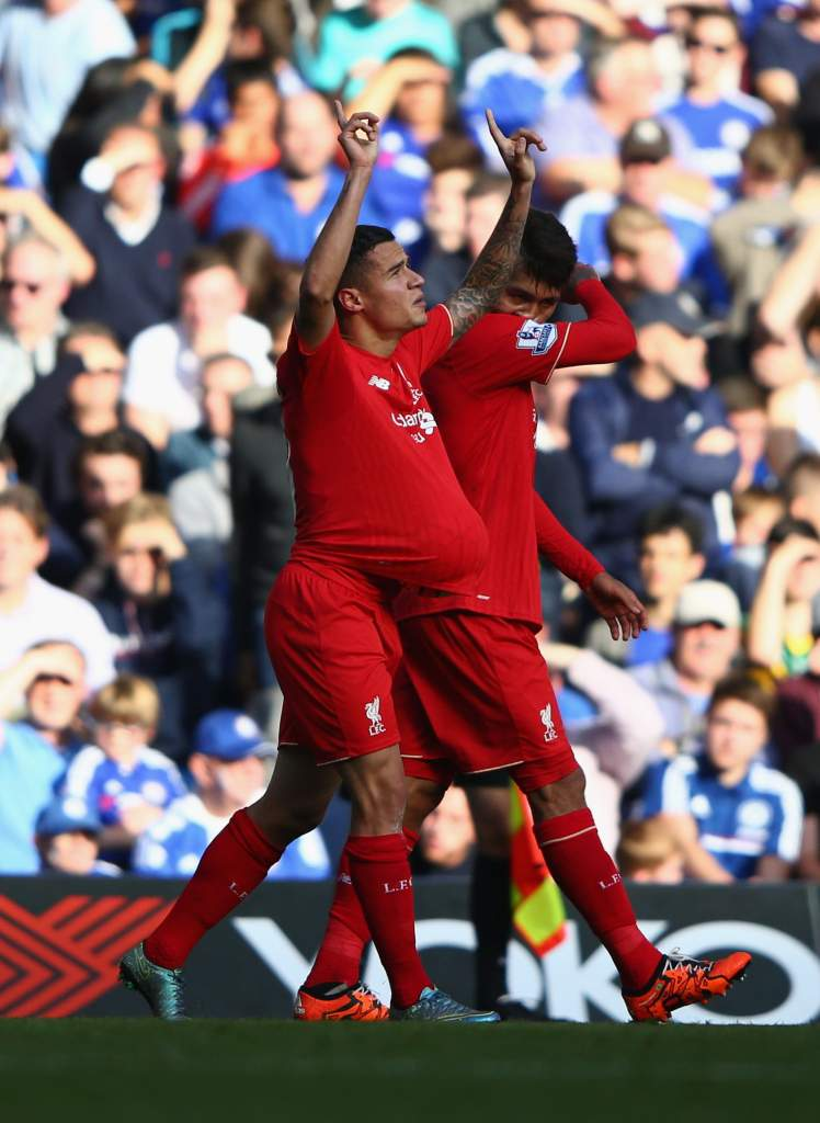 Phillipe Coutinho scored against Chelsea on October 31, 2015 and then paid homage to his son Phillipe Jr. Gett