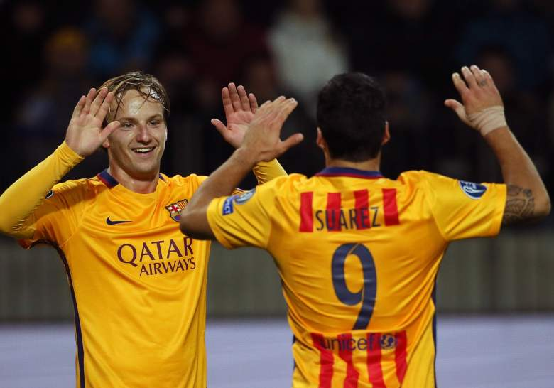 Ivan Rakitic and Barcelona dispatched of BATE 2-0 and have survived life without Lionel Messi. (Getty)