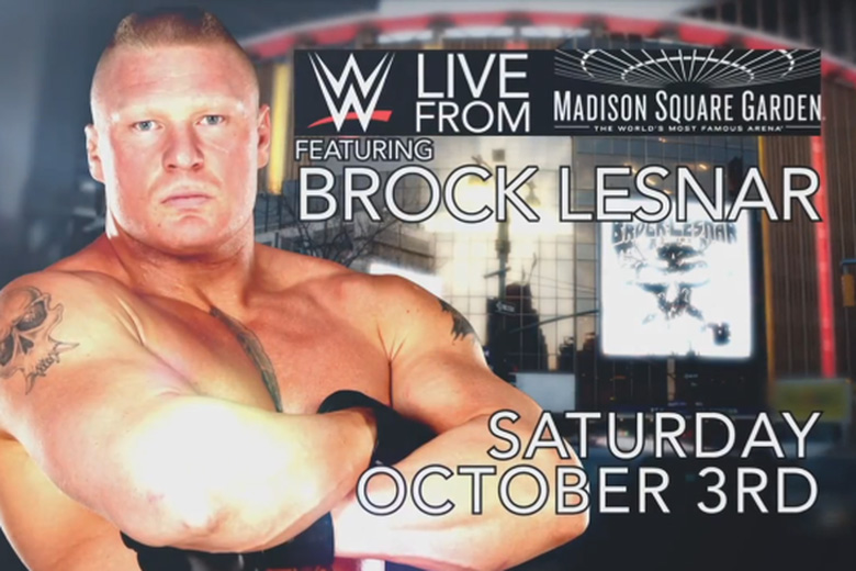 WWE Live From MSG 2015 Lesnar