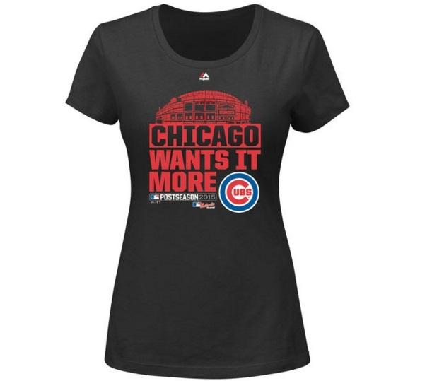 Cubs postseason women's t-shirt Cubs NLCS apparel