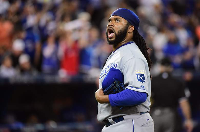 Johnny Cueto has disappointed for the Royals since coming over from the Reds at the trade deadline, but is the likely Game 1 starter in the World Series for the Royals. (Getty)
