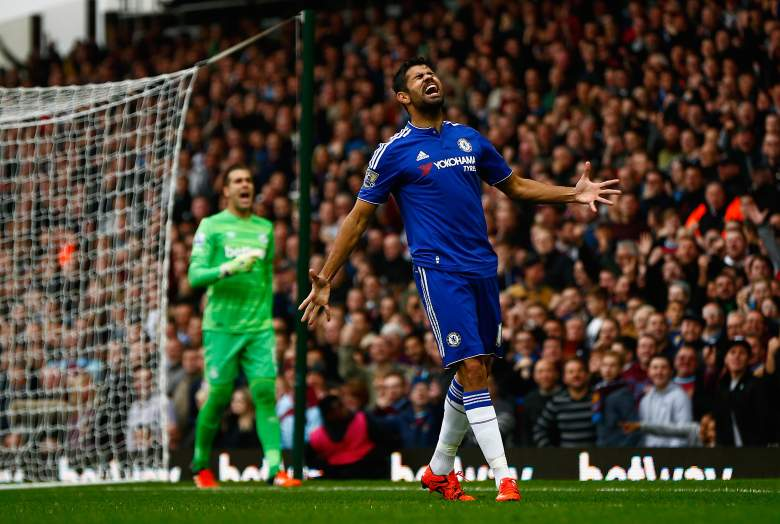 Diego Costa has not found the form that helped Chelsea win the English Premier League in 2014-2015. (Getty)
