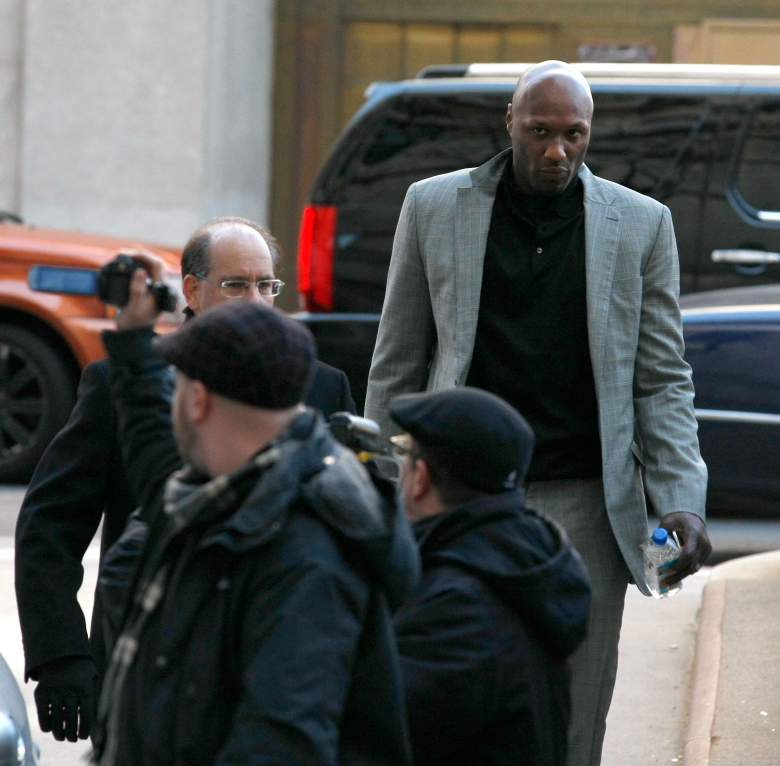 NEW YORK, NY - MARCH 05: NBA player Lamar Odom arrives to attend a custody hearing with ex-girlfriend Liza Morales at New York State Supreme Court on March 5, 2013 in New York City. Morales is the mother of Lamar's nine-year old daughter and five-year old son. (Photo by Jemal Countess/Getty Images)