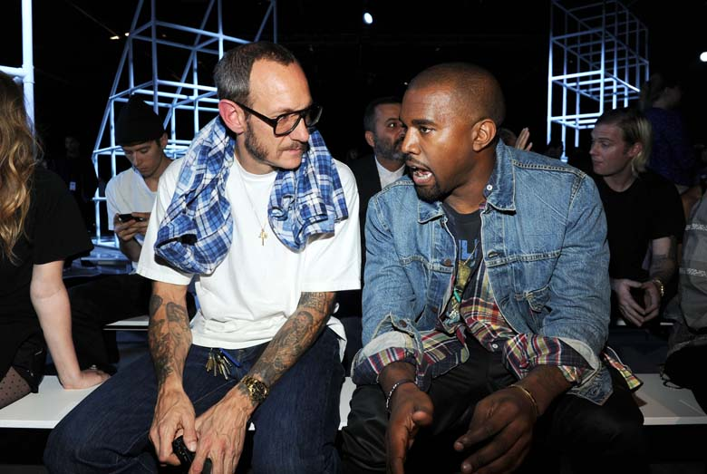 Richardson pictured with Kanye West. (Getty)