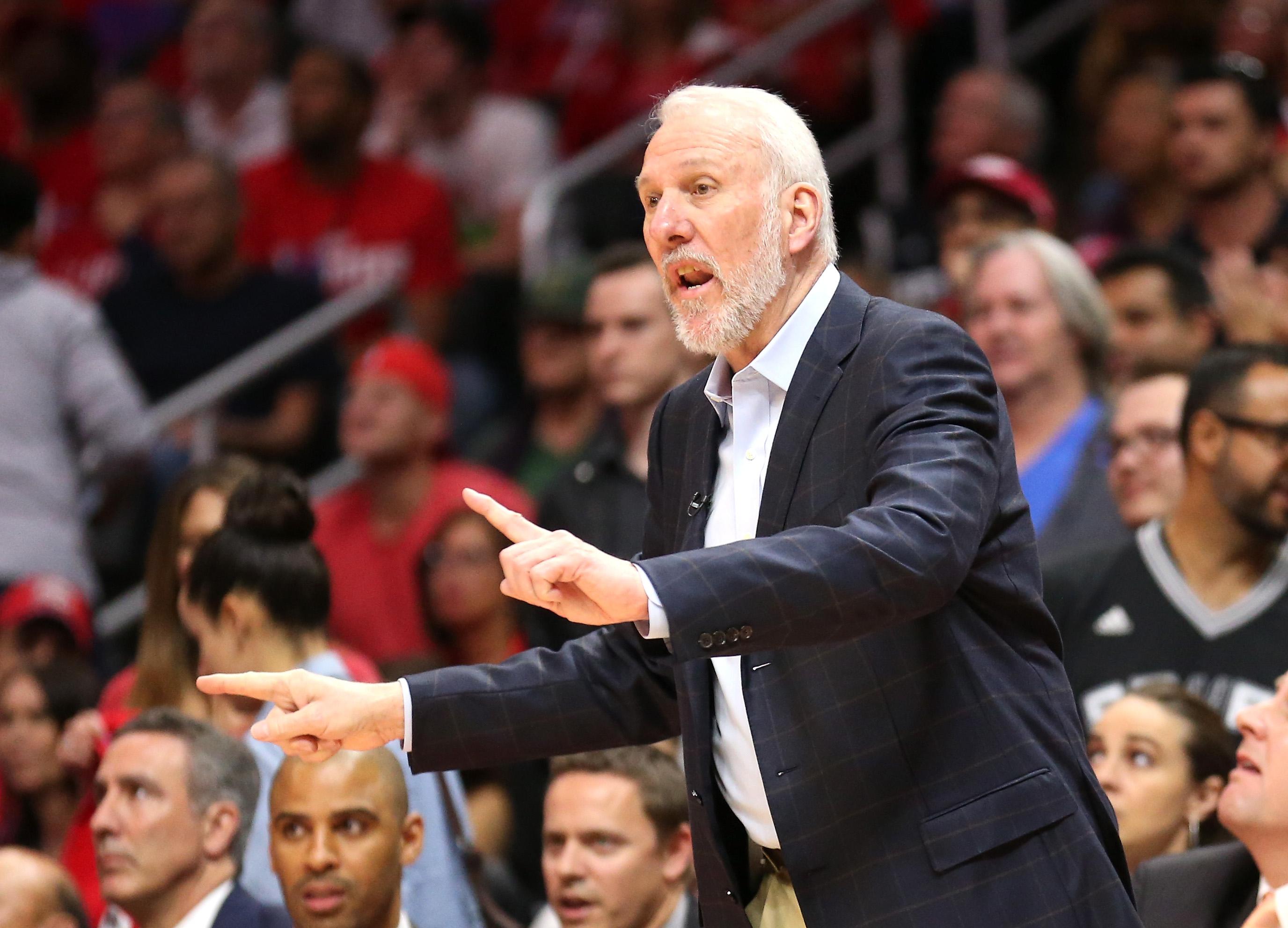 Gregg Popovich has won five NBA titles as Spurs head coach. (Getty)