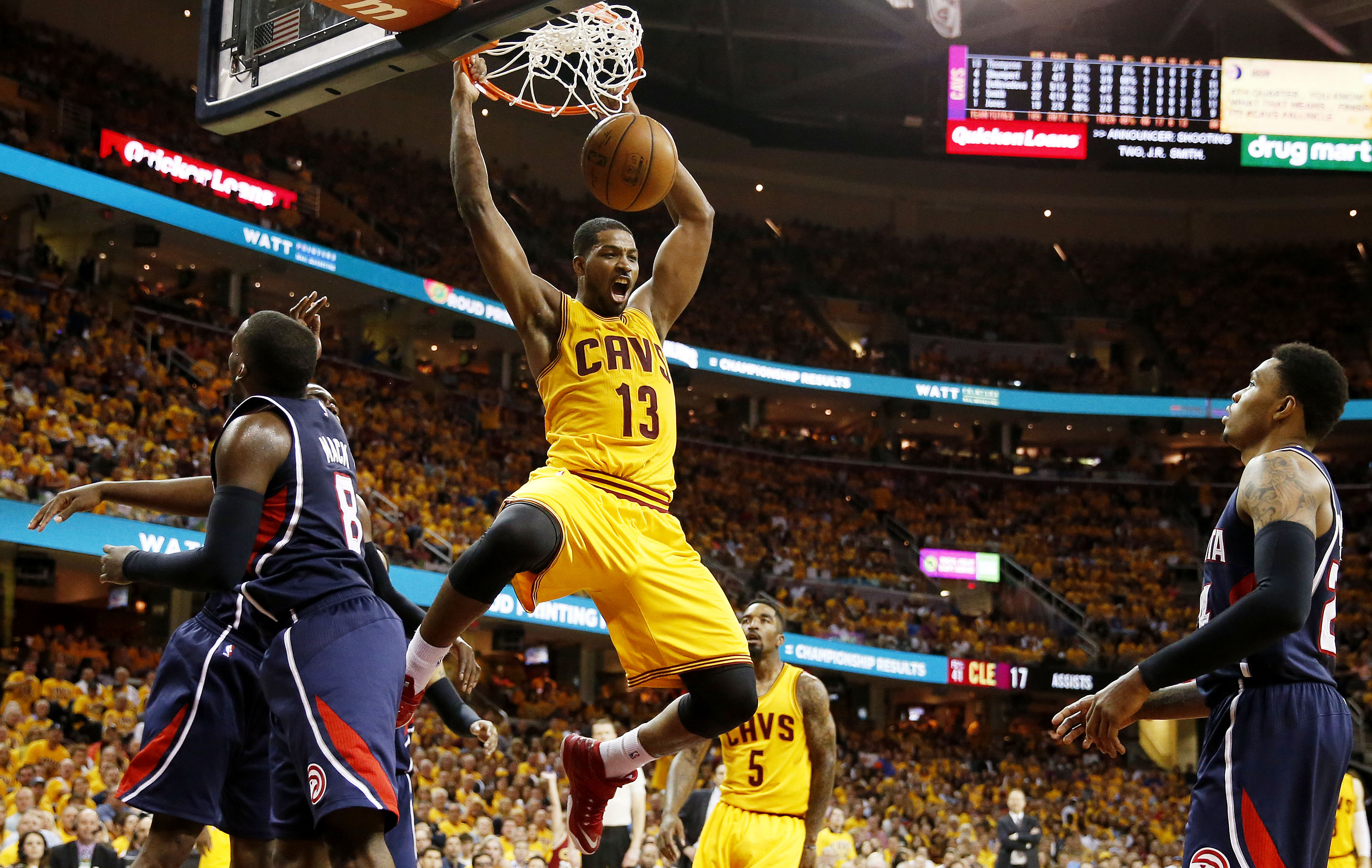 LeBron James was vocal about Thompson's contract in the media. James and Thompson share an agent. (Getty)