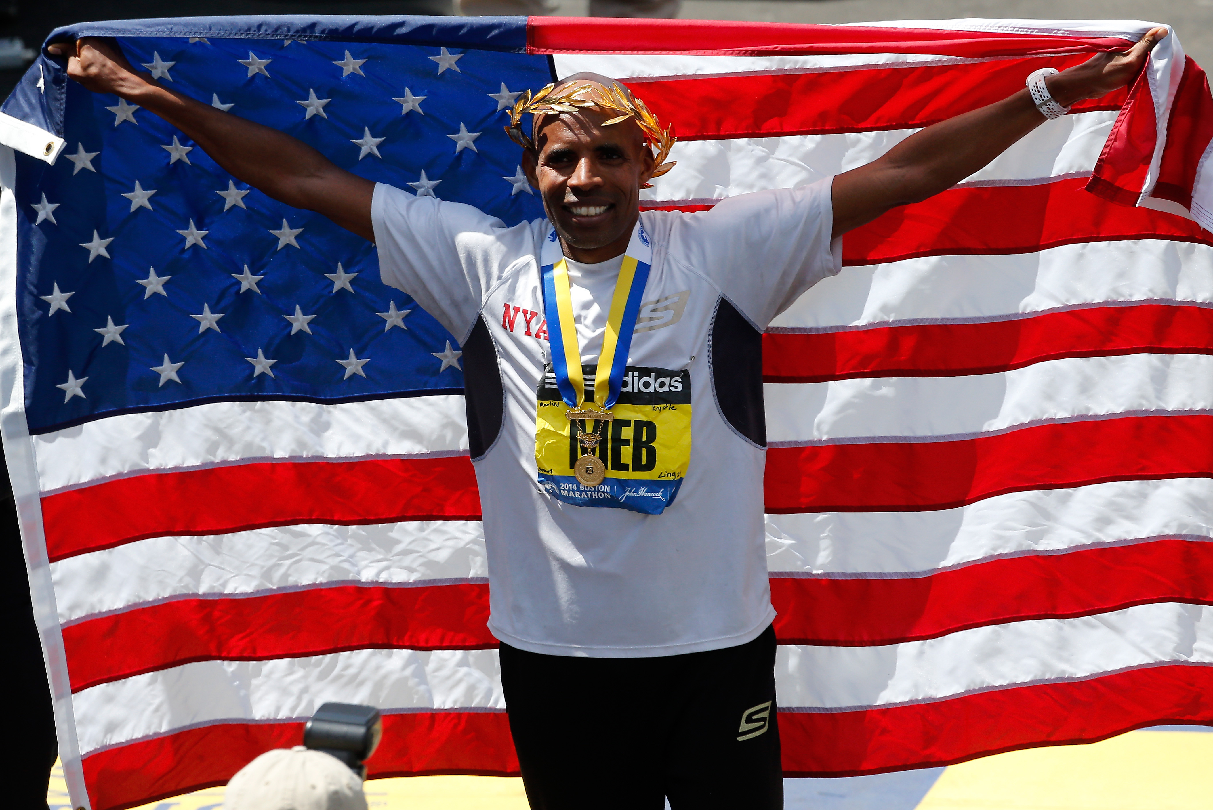 Meb Keflezighi is the top American male in Sunday's race. (Getty)