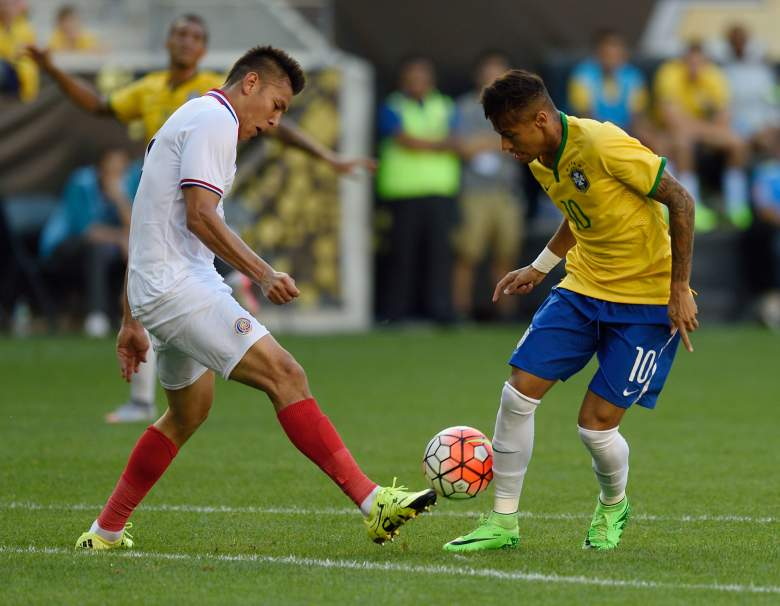 Neymar R) is in white-hot form for Brazil. Getty)