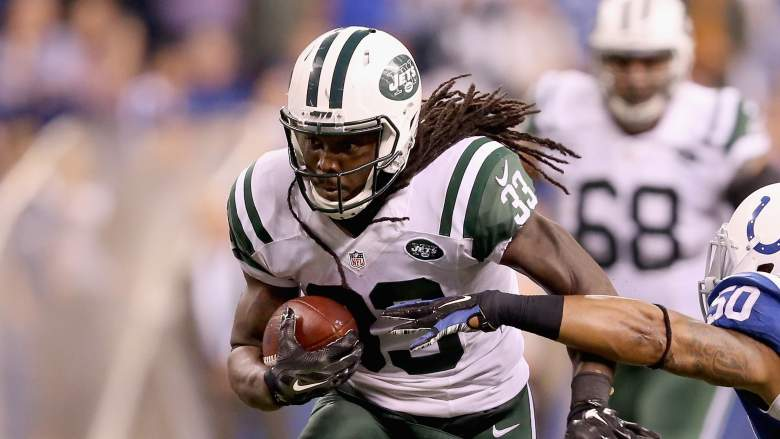Jets running back Chris Ivory leads the NFL in rush yards per game. (Getty)