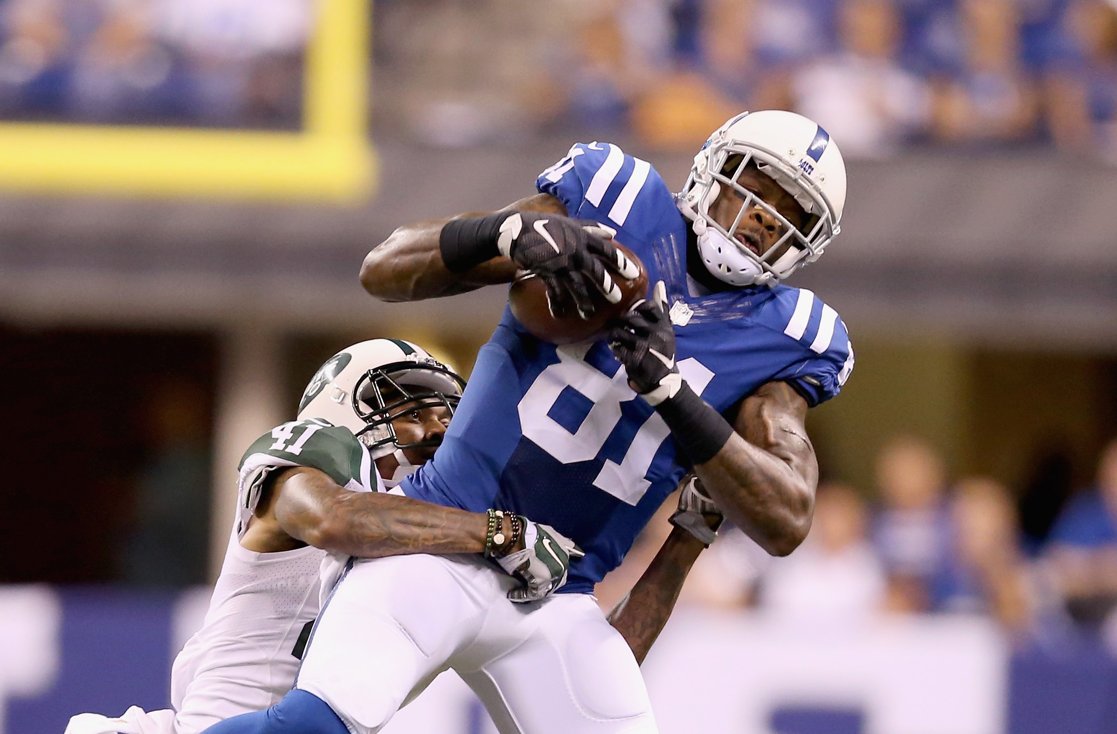 Andre Johnson has seen his role reduced in recent years. (Getty)