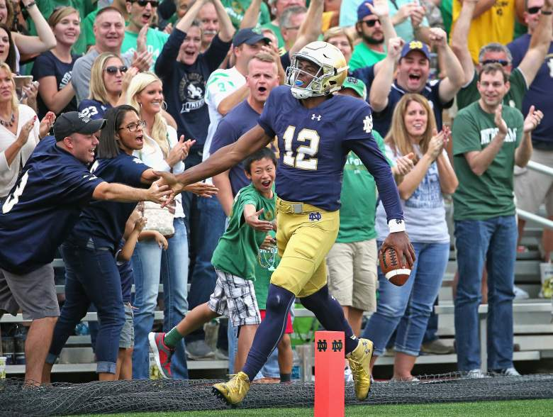 Notre Dame hopes to get the road victory. (Getty)