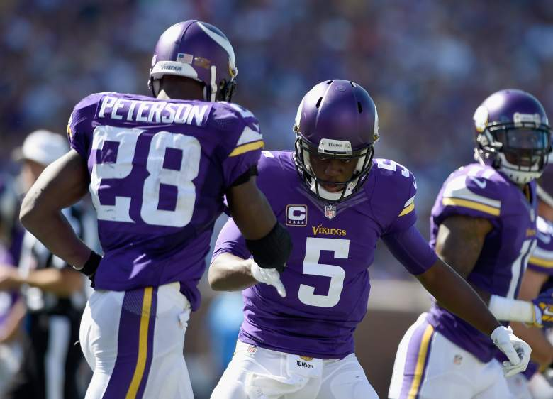 Teddy Bridgewater and Adrian Peterson have started off well for the Vikings. (Getty)