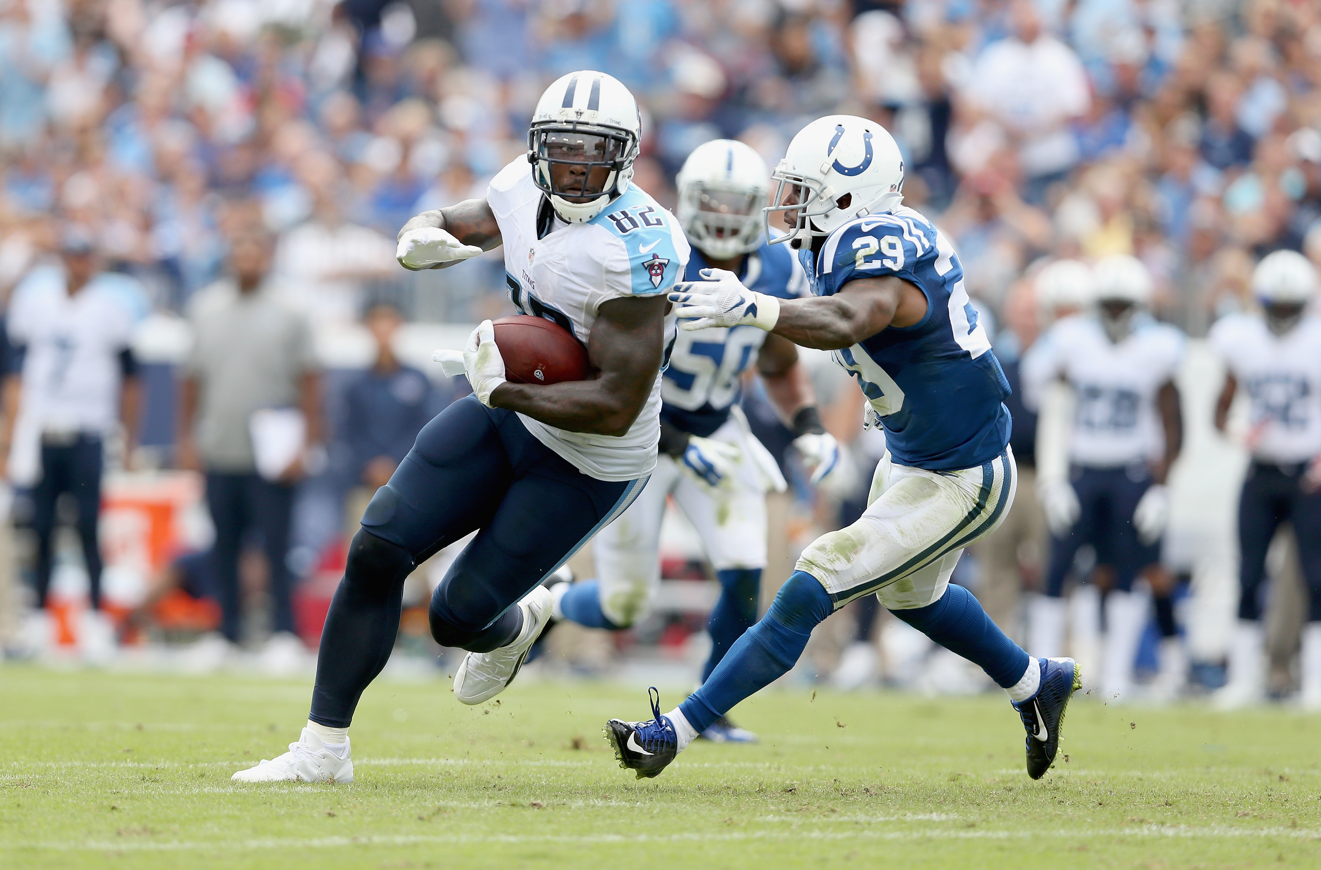 Delanie Walker has been a valuable member of the Titans offense. (Getty)