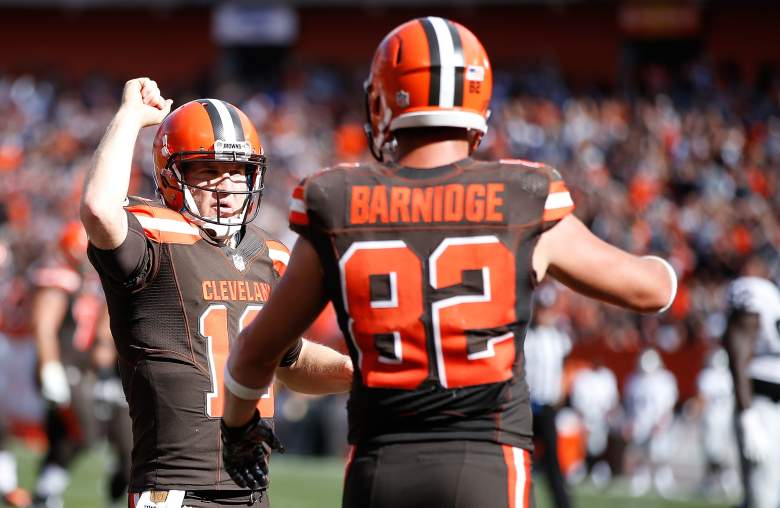 The Browns hope to get a road victory. (Getty)
