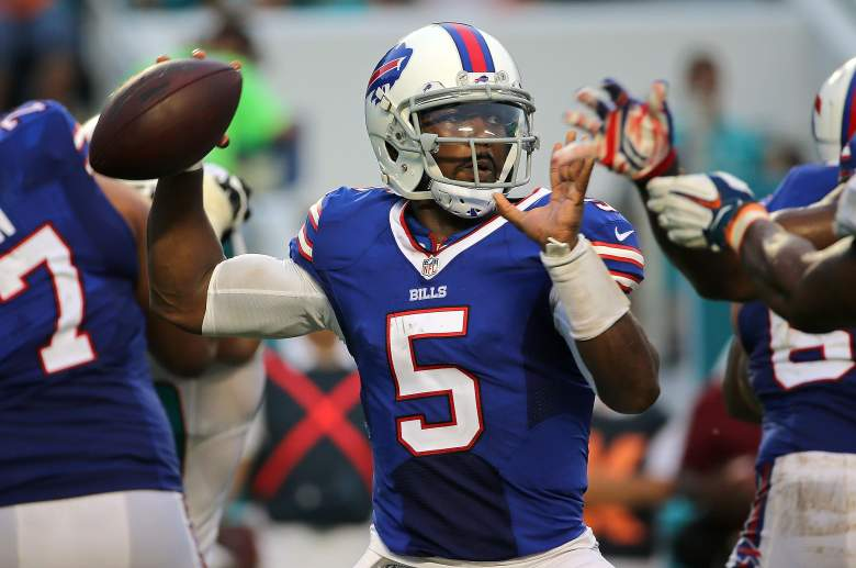 Tyrod Taylor has performed better than the Bills could have possibly hoped for so far in 2015. Getty)