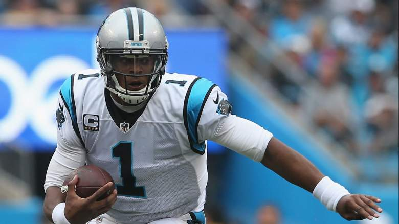CHARLOTTE, NC - SEPTEMBER 27:  Cam Newton #1 of the Carolina Panthers during their game at Bank of America Stadium on September 27, 2015 in Charlotte, North Carolina.  (Photo by Streeter Lecka/Getty Images)
