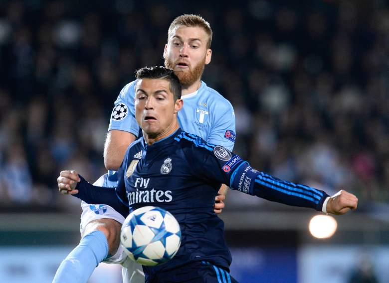 Cristiano Ronaldo (R) became Real Madrids all-time leading scorer this week. Getty)