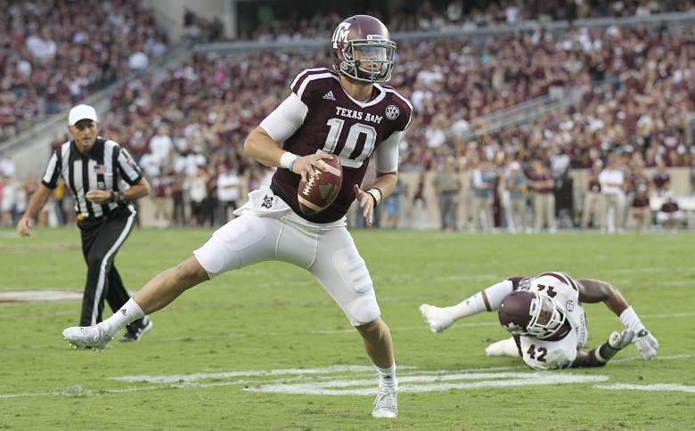 Kyle Allen is off to a great start for TAMU. (Getty)