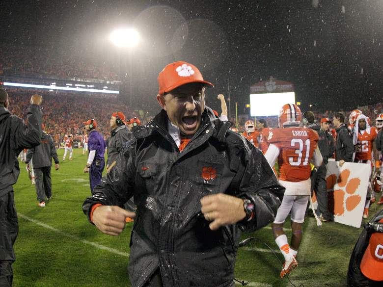 Dabo Swinney has a lot to be excited about. (Getty)