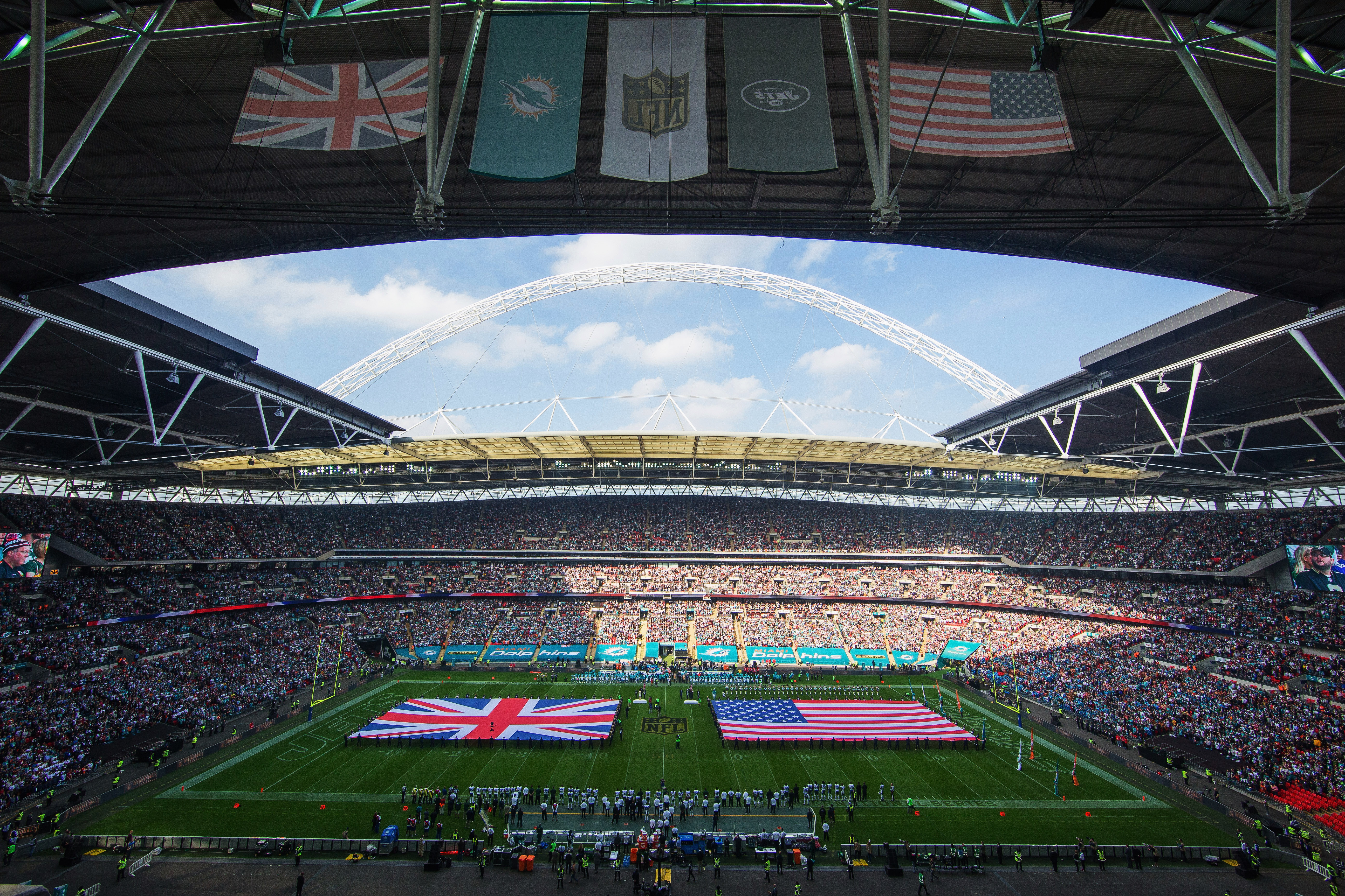 The second of three regular season NFL games in London will be held this Sunday. (Getty)