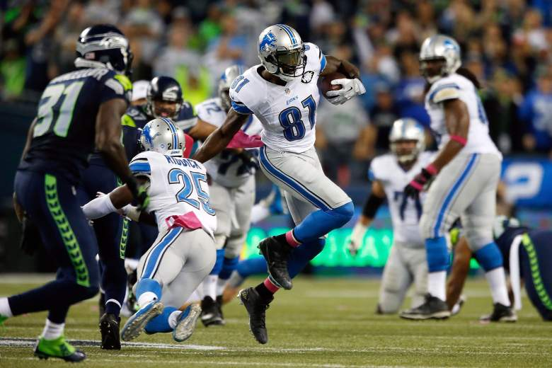 Calvin Johnson was perhaps inches away from giving the Lions their first win of 2015. Getty)