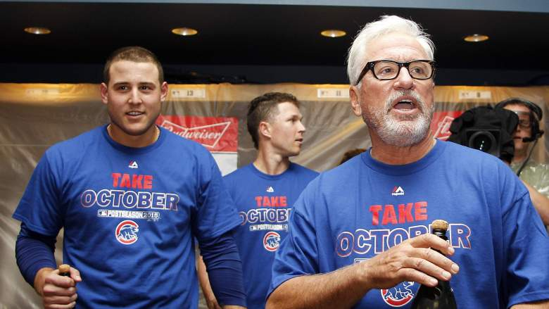 The Chicago Cubs celebrate their wild-card victory over the Pittsburgh Pirates. (Getty)