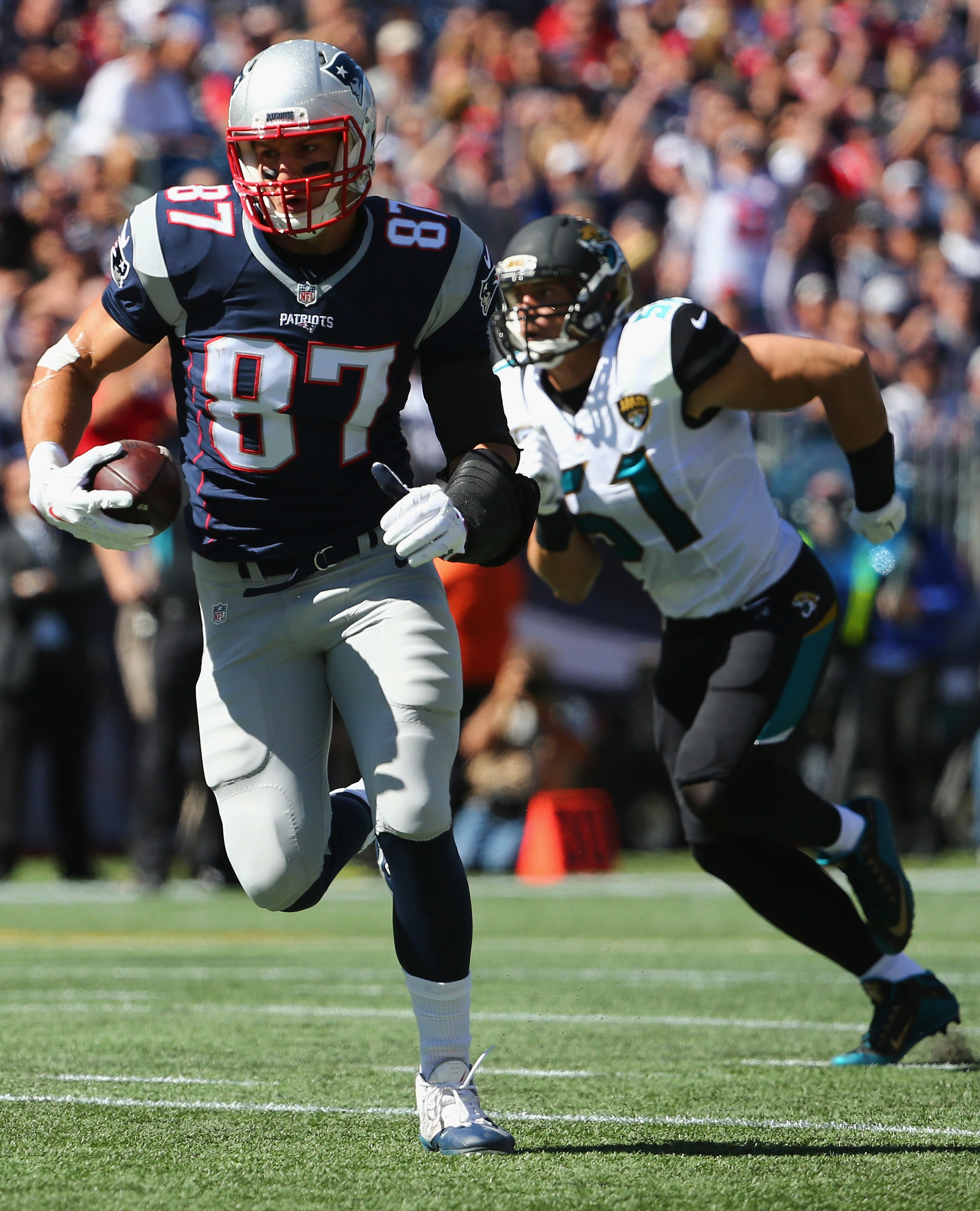 Rob Gronkowski is the X-Factor of the Patriots offense. (Getty)