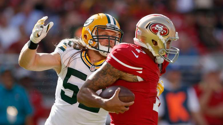 Packers linebacker Clay Matthews has 4.5 sacks and an interception this season. (Getty)