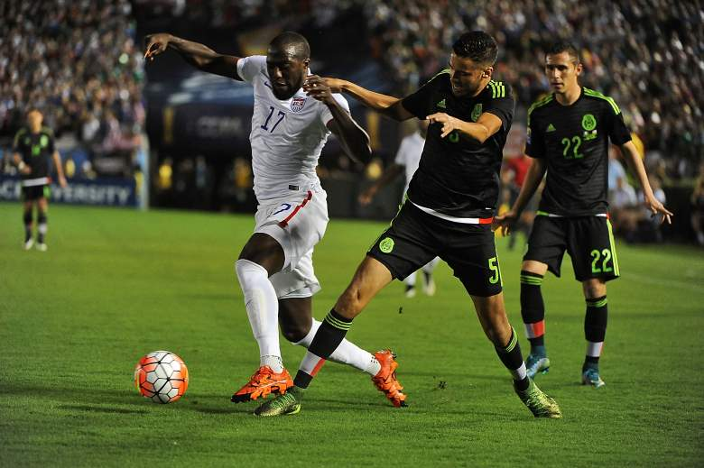 USA vs. Mexico was a physical match. (Getty)