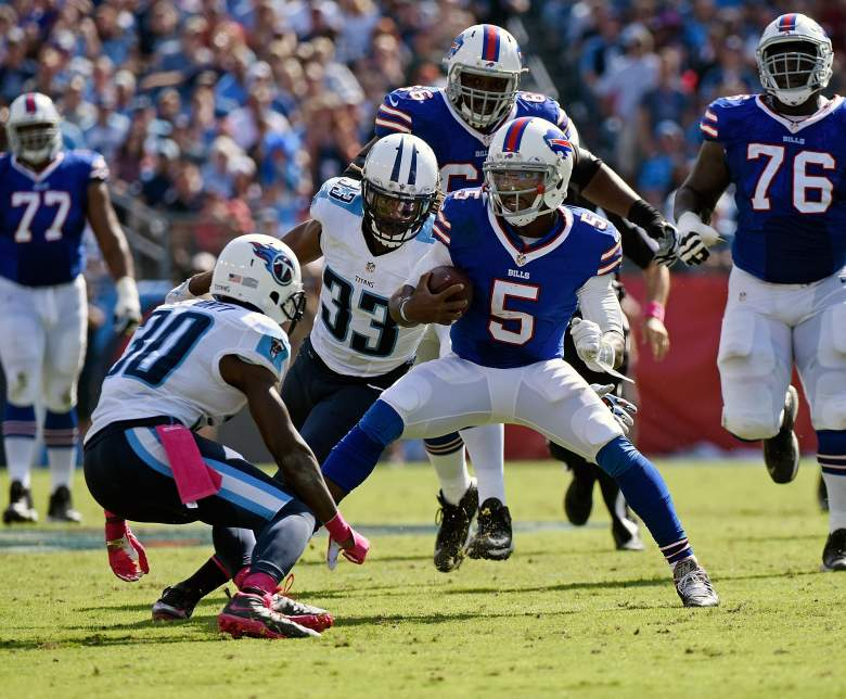 Tyrod Taylor is holding up his end of the bargain for the Bills through five games. Getty)
