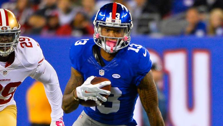 Giants receiver Odell Beckham has touchdowns in 4 of his past 5 games. (Getty)