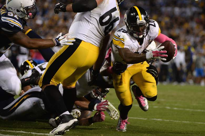 Le'Veon Bell had the play of the game. (Getty)