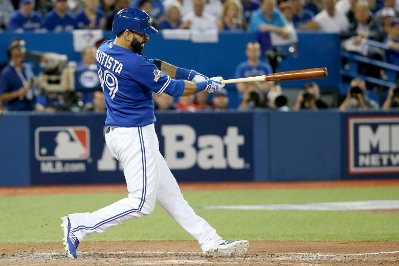 Jose Bautista home run, Jose Bautista hit, Toronto Blue Jays