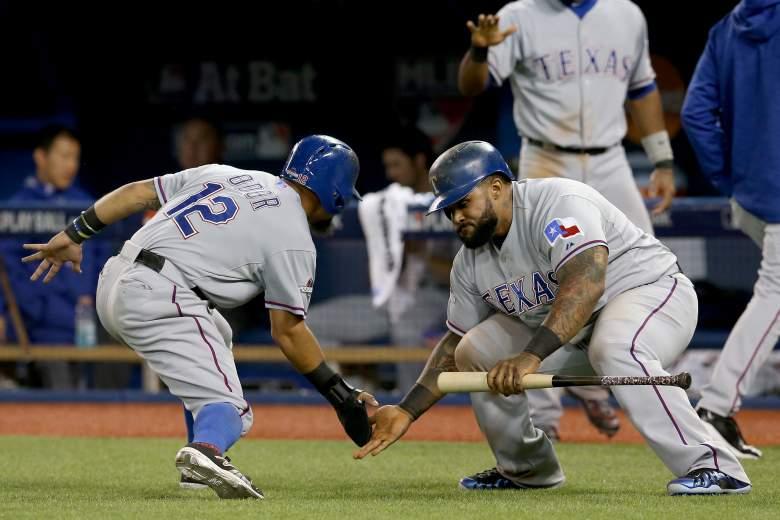 Rougned Odor run, Rougned Odor hit, ALDS, Toronto Blue Jays, Texas Rangers, ALDS