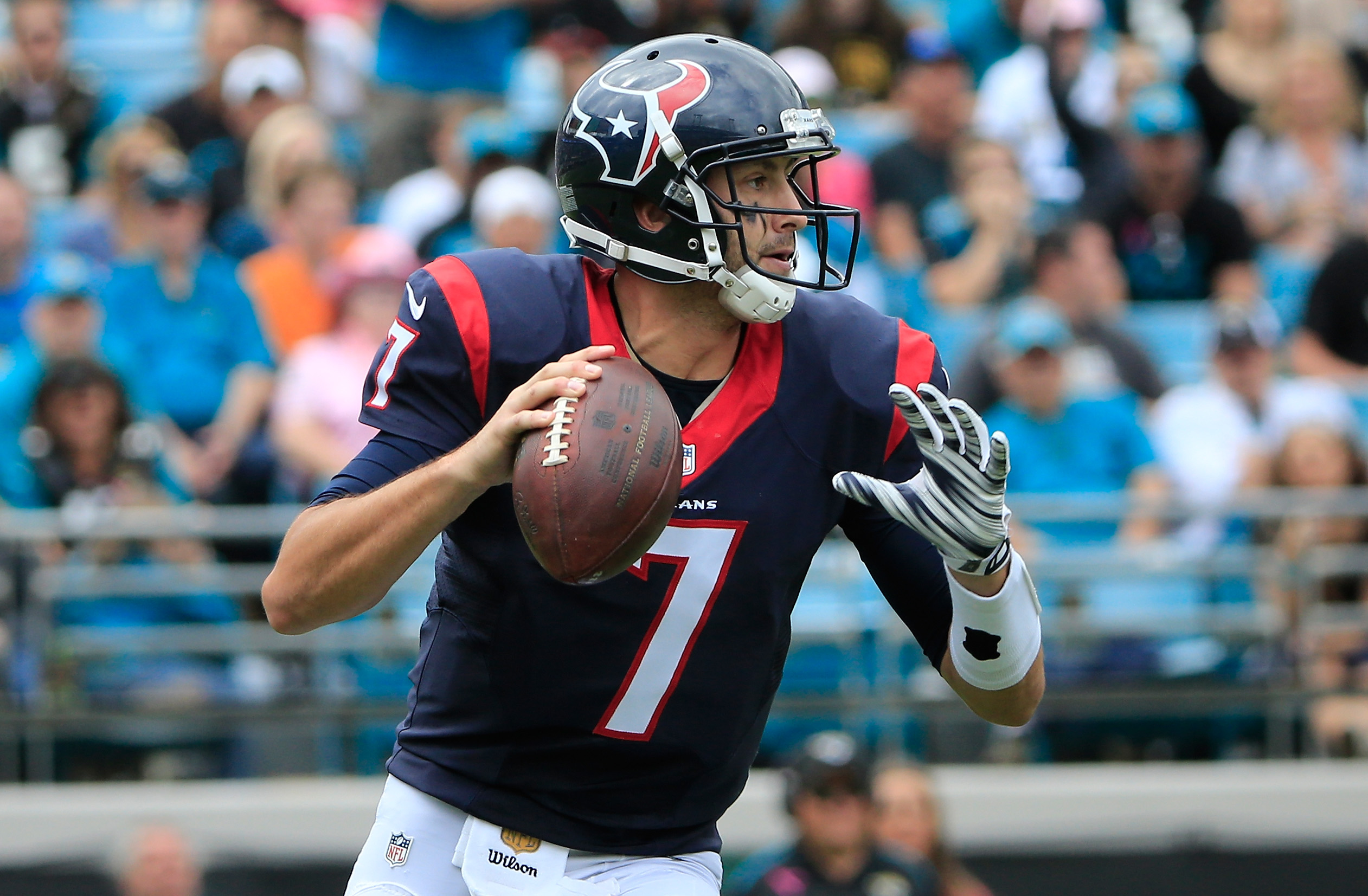Brian Hoyer had his best game of the season today in Jacksonville. (Getty)