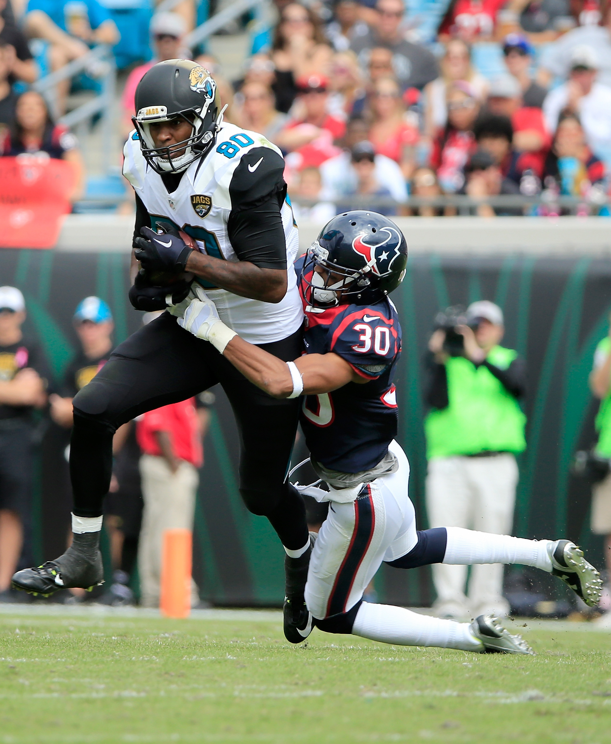 Julius Thomas has hit paydirt for the first time as a Jaguar. Getty)