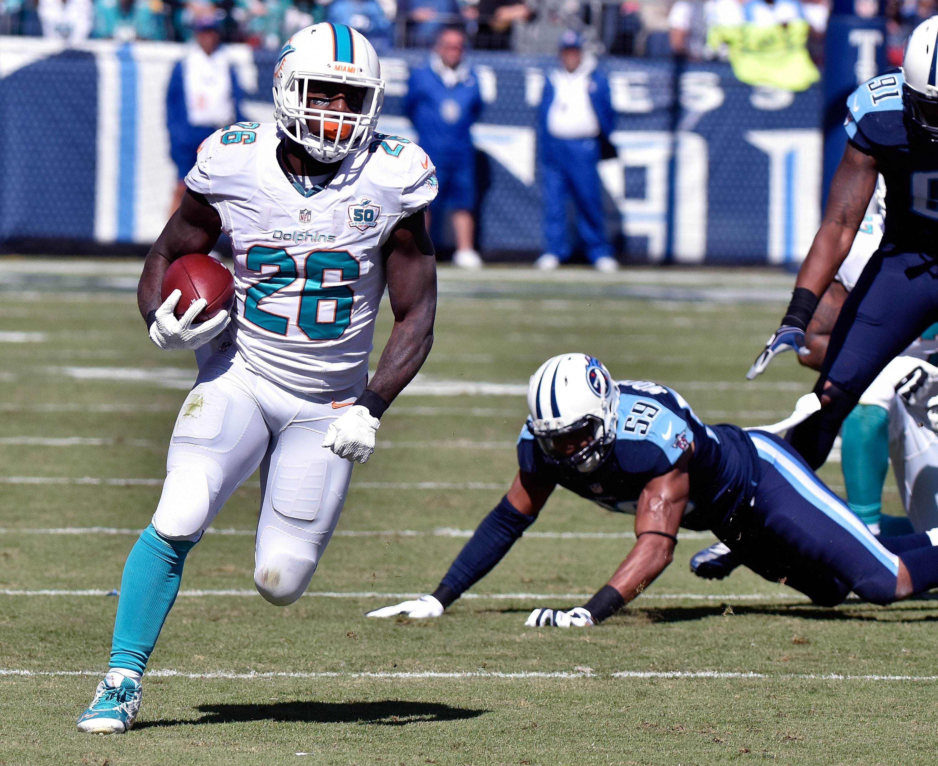 The Dolphins finally had success on the ground last week. (Getty)