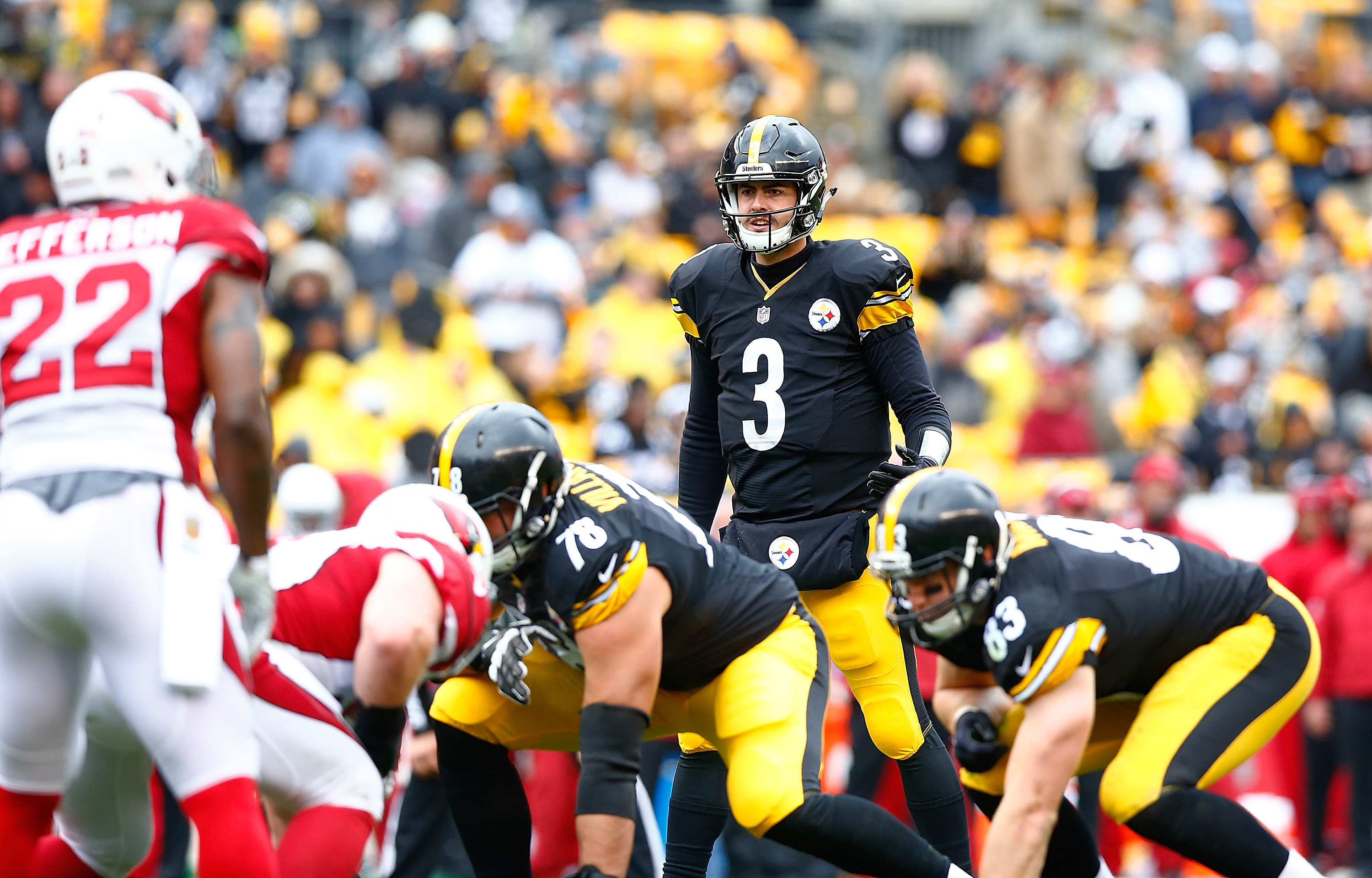 Landry Jones took over for the Steelers and never looked back. (Getty)