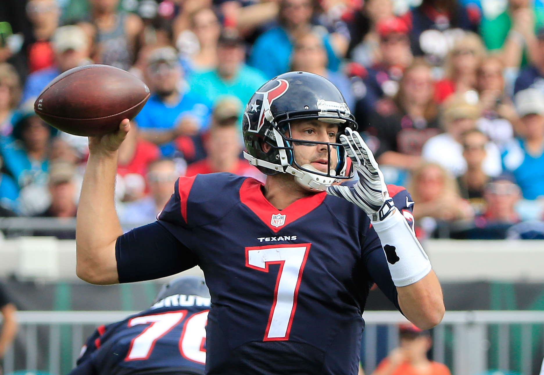 Brian Hoyer looks to have locked down the Texans starting QB gig. (Getty)