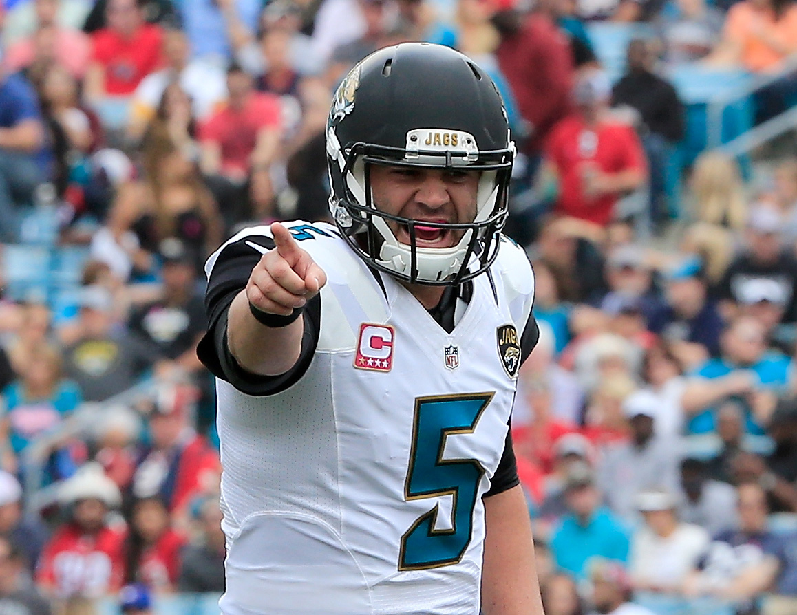 Blake Bortles has made improvements in his second NFL season. (Getty)