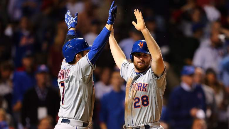 The New York Mets look to secure the series sweep and notch a berth in the World Series on Wednesday. (Getty)